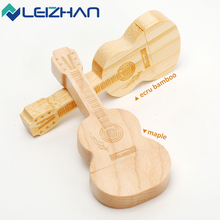 LEIZHAN Wooden Guitar USB  Flash Drive 4GB/8GB/16GB/32GB USB 2.0 Computer  Memory Stick Wedding Gift Pen Drive Customized U Disk