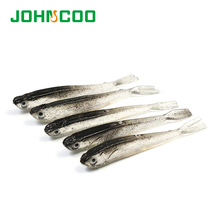 JOHNCOO NEW 10pcs Fishing Lure Silicone Bait 2.3g 3.6g 3D Eyes Carp Fishing Baits Artificial Soft Fish Swimbaits Plastic Lure(China)