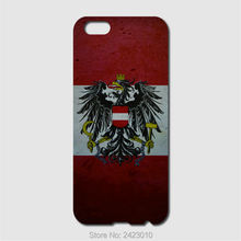 High Quality Cell phone case For iPhone 6 6S 7 Plus SE 5 5S 5C 4 4S iPod Touch 6 5 4 Case Hard PC Austria flags Patterned Cover(China)