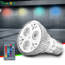 LemonBest 10W PAR20 E27 RGB LED Bulb Stage Lamp Light 16 Colors Remote Control Flash Strobe AC 85-265V