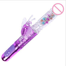 Buy Big USB Rechargeable Rotating  Rabbit Butterfly Vibrators, Dildo Rotation Vibrador, Sex Products Sex Toys Women 0167