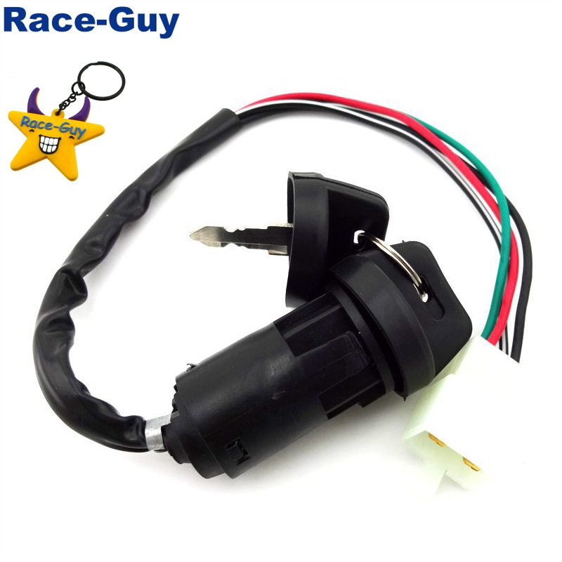 4 Wire Pin Key Ignition Switch for Chinese Go Kart ATV Quad Dirt Bike Scooter Buggy Motorcycle