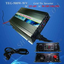 on grid tie micro solar inverter 500W Power Inverter for Solar Panel On Grid System, DC 22V-60V to AC 190V-260V High Quality(China)