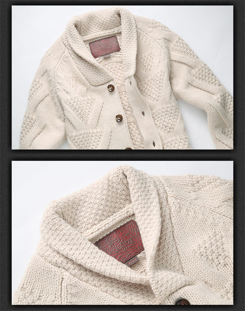 Muls Luxury Collection Men Cardigans 80% Wool 20% Acrylic Winter Thick Cardigan Sweater Jacket Men Navy Khaki Turn-down Collar-03