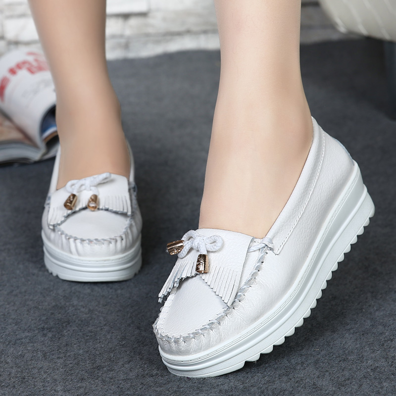 women flats shoes Casual shoes genuine leather shoes Tassel sy-2022<br><br>Aliexpress