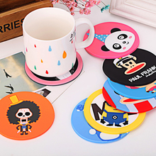 Creative Decoration silicone dining table placemat coaster kitchen accessories mat cup  cartoon animal drink pads Hello Kitty