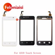 "Buy High 4.0"" Lenovo A319 Touch Screen Digitizer Sensor Front Glass Lens Panel Black White for $3.70 in AliExpress store"