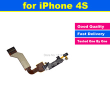 New High Quality BLACK OR WHITE Charger Charging Dock Port Connector Flex Data Cable Replacement for iphone 4S