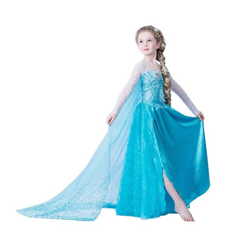 2017 children anna elsa dress kids dresses for girls 10 years elza costume christmas rapunzel dress jurk infant snow white queen<br><br>Aliexpress