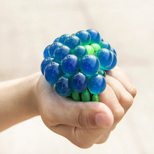 New Arrival Release Pressure 6cm Stress Ball Novelty Squeeze Ball Hand Wrist Exercise Stress Grape Shape For Children Adult Hot