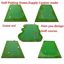 Freeshipping Factory direct sale Golf green turf Synthetic Turf Custom made Golf putting mat Green turf design by yourself