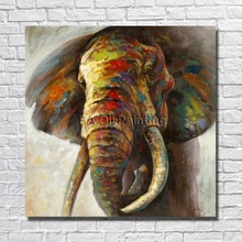 High Quality Hand Painted Canvas Art Abstract Elephant Oil Painting On Canvas Paintings On The Wall Home Decor No Frame