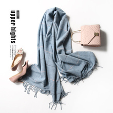 TRESPRETTYWY New 2017 Shawl Imitation Cashmere Scarves Female Lattice Scarves Autumn And Winter Wool Plaid Warm Woven Scarves(China)
