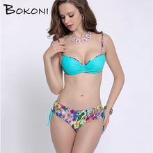 2017 Women Swimwear Sexy Plus Size Swimsuit Beach Wear Plus Bikini Set Bathing Suit Push Up Biquini Women Large Cup Bikini XXXL
