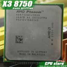 AMD Phenom X3 8750 2.4GHz Triple Core Processor Socket AM2/AM2+ 940-pin cpu, 95W L3=2M, free shipping, sell X3 8650 X3 8450(China)
