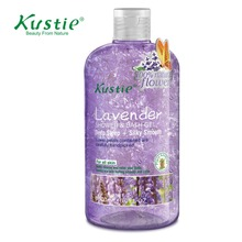 Kustie 500ml Lavender Body Wash Bath & Shower Gel For Deep Sleep & Silky Smooth Skin with 100% Natural Fresh Flower Petals(China)