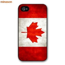 minason Capa Canada FLAG Cover case for iphone 4 4s 5 5s 5c 6 6s 7 8 plus samsung galaxy S5 S6 Note 2 3 4 H2411(China)