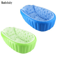Hot ! Mambobaby Baby Bath Kids Bathtub Portable Inflatable Cartoon Safety Thickening Washbowl Baby Bath Tub for Newborns(China)