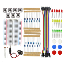 Smart Electronics Starter Kit Uno R3 Mini Breadboard LED Jumper Wire Button for arduino Diy Kit(China)