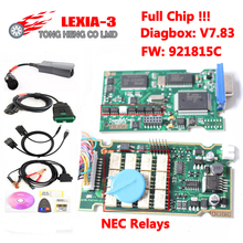 2017 Best Lexia 3 Full Chip Newest Diagbox V7.83 Lexia-3 Firmware 921815C with full chip Lexia3 PP2000 V48/V25
