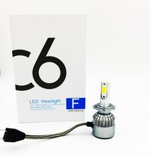 2X  FREE SHIPPING, CHEAPEST  C6 H7 72W 7600LM  AUTO BULB KIT LIGHTS , LED LAMP WHITE