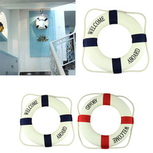 Delicate 2016 Decorative Cloth Life Ring Navy Accent Nautical Decor Unique Home Decor life buoy drop shipping