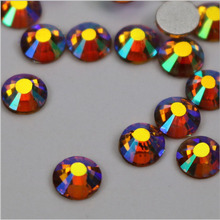 Crystal Rhinestones For Nail Art 1440pcs ss10 (2.7-2.9mm) Topaz AB Non Hot Fix Glass Chatons Diy Crafts Embellishments(China)