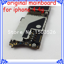 wholesale price 16GB for iphone 4 4G motherboard good working original mainboard OEM For apple 4 4G logic board with IOS system(China)