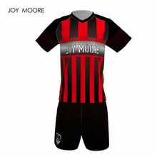 new arrival 100% polyester boys men football jerseys set breathable team training suits button quick dry short uniforms design(China)