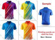 N For Wholesale man woman new badminton shirt clothes table tennis shirt tennis clothes shirt T shirt