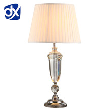 Modern K9 Crystal Bedroom Table Lamp Fabric Lampshade Living Room Decoration Abajur Table lamp For Bedroom Lamparas De Mesa
