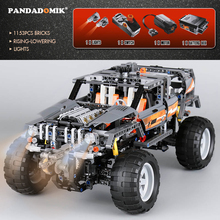 Pandadomik 1132pcs Building Blocks Off Road Car with Lights Motor Technic Model Building Toys Children Bricks Compatible lepin(China)