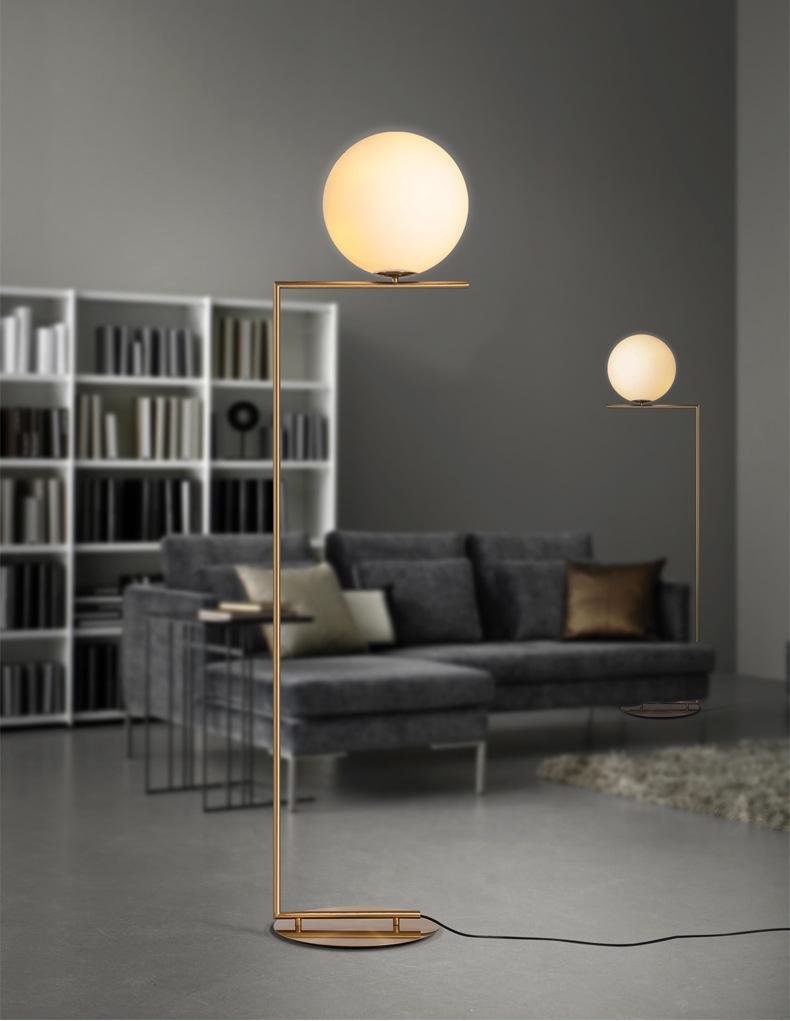 Modern LED Floor Lamp Floor Light Shade Glass Ball Standing Lamp for Bedroom Living Room Gold Designs (14)