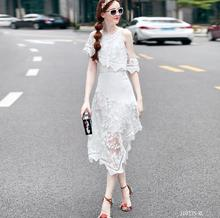 European style 2017 New arrivals spring summer fashion women clothes Personality embroidered irregular vintage dress J1933(China)