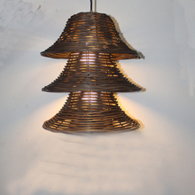 Novelty Nordic Lamp Creative rattan cap pendant Lights For Light Home  free EMS shipping