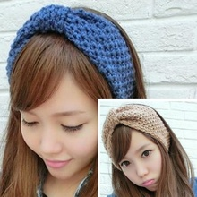 Top Selling Fashion 1 pcs New Arrival Crochet Flower Bow Knit Knitted Headband Headwrap Ear Warmer Hair Band hot sale