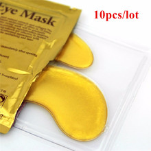 10pcs Hot sale Gold Crystal collagen Eye Mask eye patches skin care 10pcs=5 pack M01264