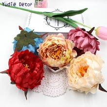 1pcs/lot cheap. Artificial Chinese peony flowers for DIY wedding car Marriage room party gift decoration Crafts Art Scrapbook(China)