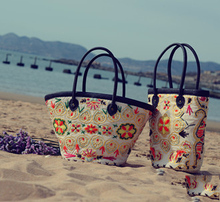 Straw Bag 2015 New Hot Summer Fashion Beach Bags Woven Light Material Women Bag Free Shipping A1115