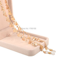 High Quality New Gold Metal Chain Reading Glasses Sunglasses Spectacles Eyeglass Holder Cord Fahsion Lady sunglasses Strap