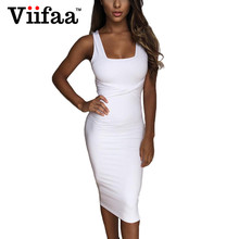 Buy Viifaa 2017 Bodycon White Peplum Dress Summer Women Square Collar Party Sexy Dresses Backless Casual Fitted Dress for $9.99 in AliExpress store