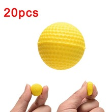 20 pcs/bag Bright Color Light Indoor Outdoor Training Practice Golf Sports Elastic PU Foam Balls @Z253 M09(China)