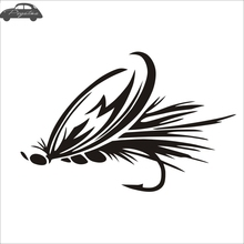 Pegatina Fish Hooks Hunter Decal Angling Tackle Shop Hollow Sticker Fishing Boat Car Window Vinyl Decal Funny Poster(China)