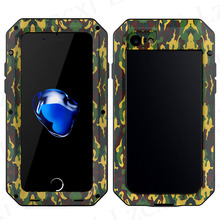 Heavy 360 Three Proofings Dust Armor Shockproof Camouflage Metal Case For iPhone 5S SE 5 6 6S 7 Plus Aluminum+Silicone Cover