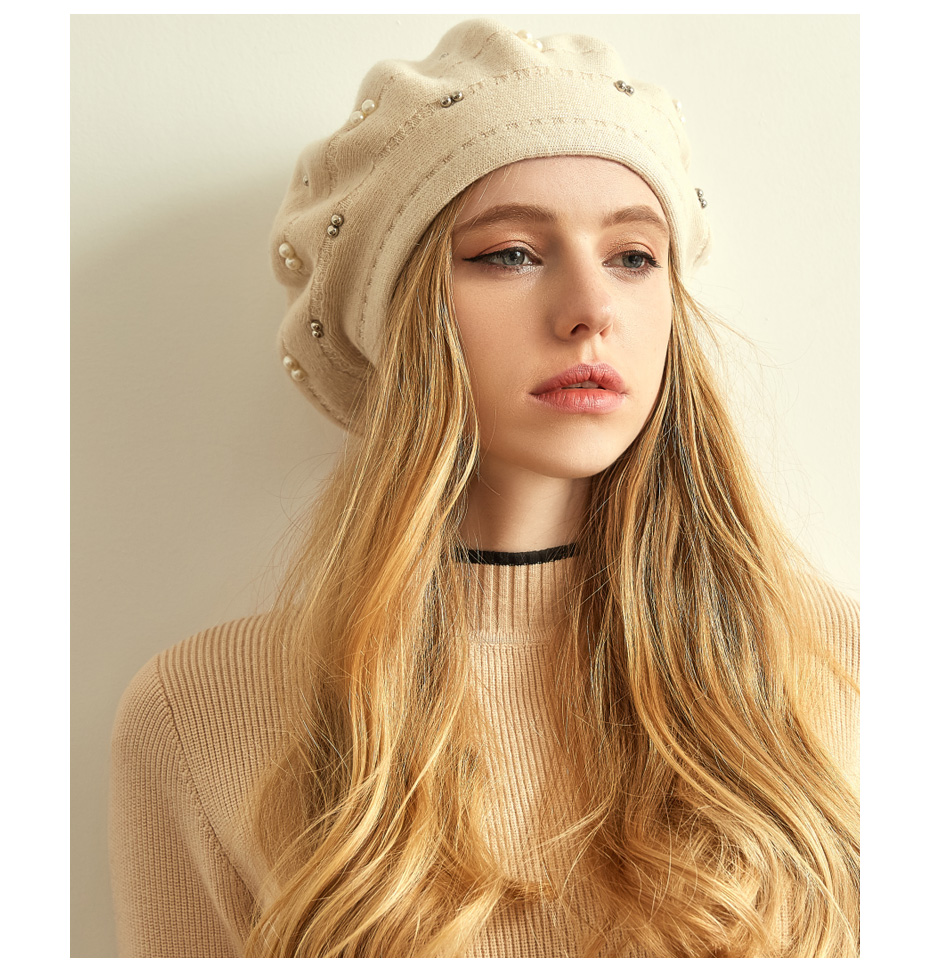 قبعة صوف محبوكة 13