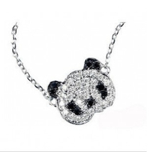 N048 2017 jewelry cute big head Panda necklace chain long charm charm pendant Girl Valentine's Day gift
