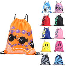 Colorful Portable Sports Bag Waterproof Swimming Bag Backpacks Double Layer Drawstring Sport Travel Shoulder Bags(China)
