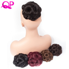 Qp Hair 9 Flowers Curly Synthetic Claw Ponytails Heat Resistant Hair Ponytail Natural Fake Hairpiece Ponytail