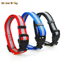 Hot Sale 2.0cm 2.5cm Sizes 3 Colors Reflective Nylon Medium Large Dog Collars Pet Product Supplier(China)