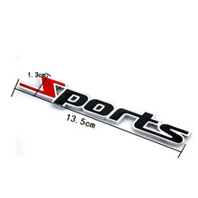 3D Words Sports Letter Chrome Hot Sale Metal Car Sticker Emblem Badge Decal Auto Decoration Decor 2016 stickers for cars(China)